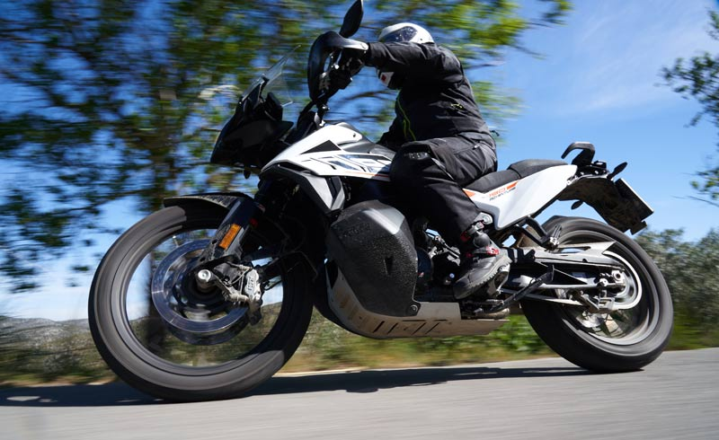 prueba ktm 790 adventure suspensiones